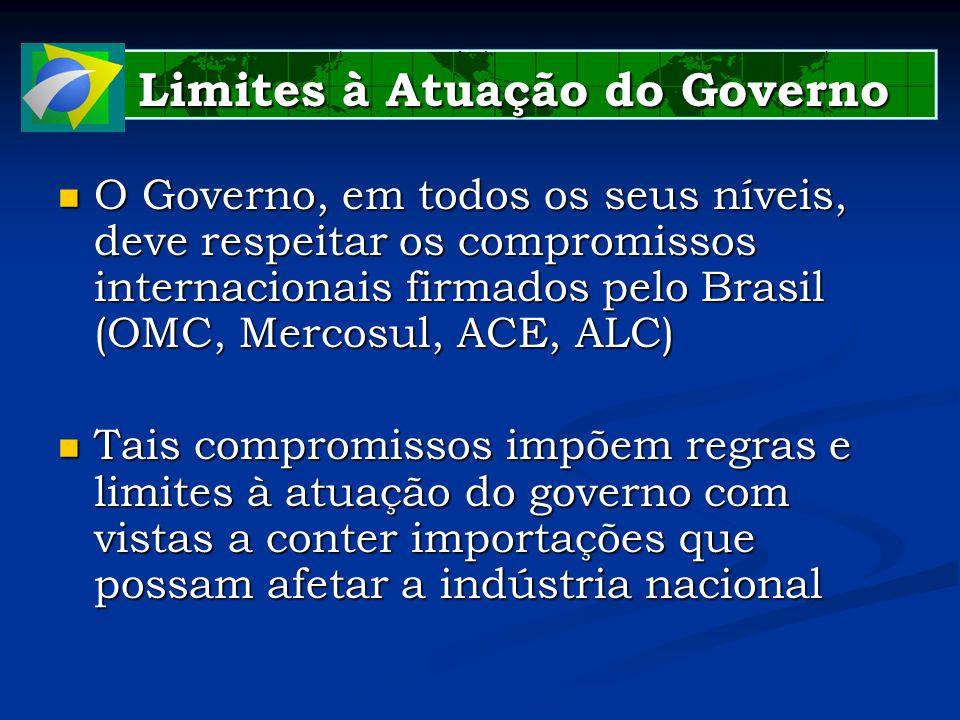 Limites à Atuação do Governo Limites à Atuação do Governo O Governo, em todos os seus níveis, deve respeitar os compromissos internacionais firmados p
