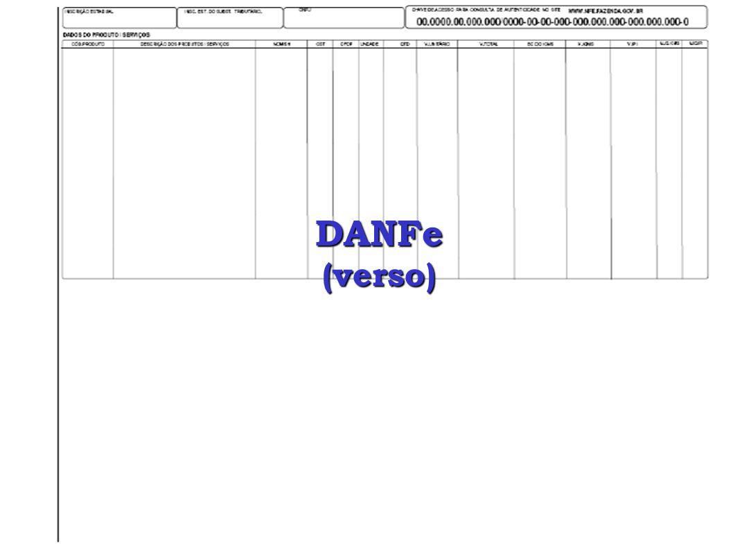 DANFe (verso)