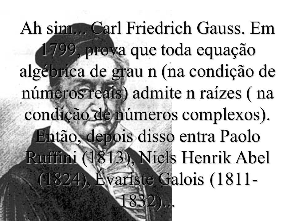 Este é François Viète. Primeiro a introduzir letras como coeficientes positivos. Em 1615 faz uma publicação importante: fornece condições para aumenta