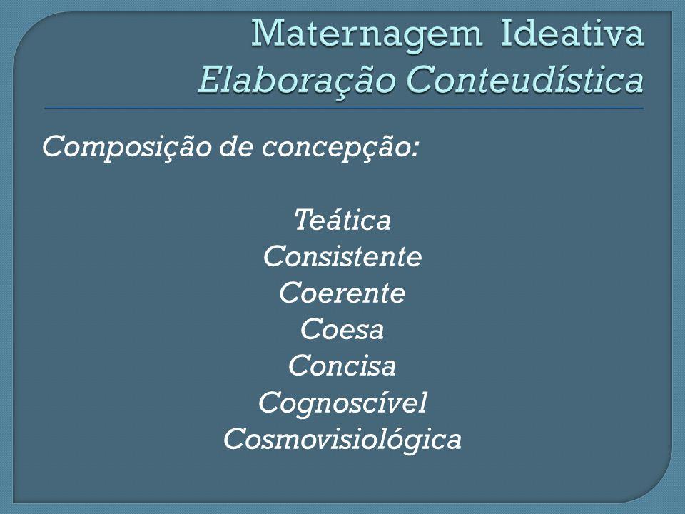 Composição de concepção: Teática Consistente Coerente Coesa Concisa Cognoscível Cosmovisiológica
