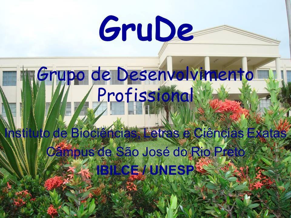 Grupo de Desenvolvimento Profissional Instituto de Biociências, Letras e Ciências Exatas Câmpus de São José do Rio Preto IBILCE / UNESP GruDe