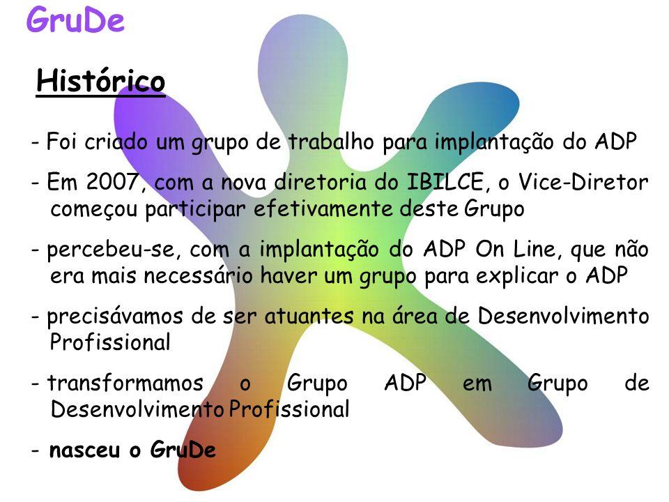 Histórico - Foi criado um grupo de trabalho para implantação do ADP - Em 2007, com a nova diretoria do IBILCE, o Vice-Diretor começou participar efeti