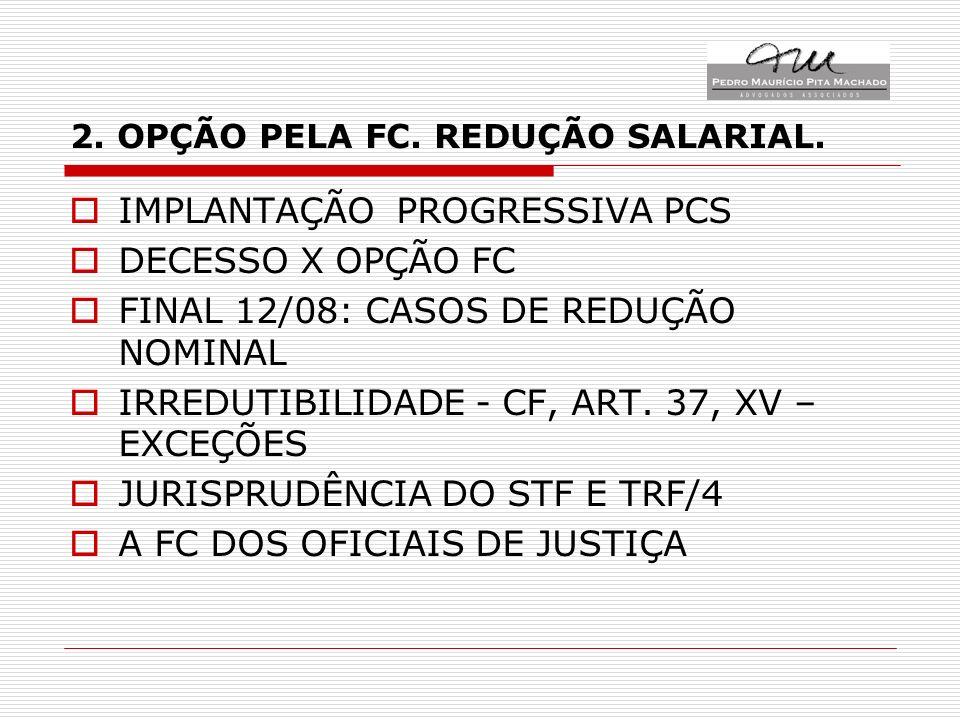 2. OPÇÃO PELA FC. REDUÇÃO SALARIAL.