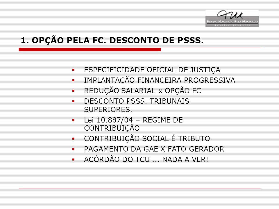1. OPÇÃO PELA FC. DESCONTO DE PSSS.