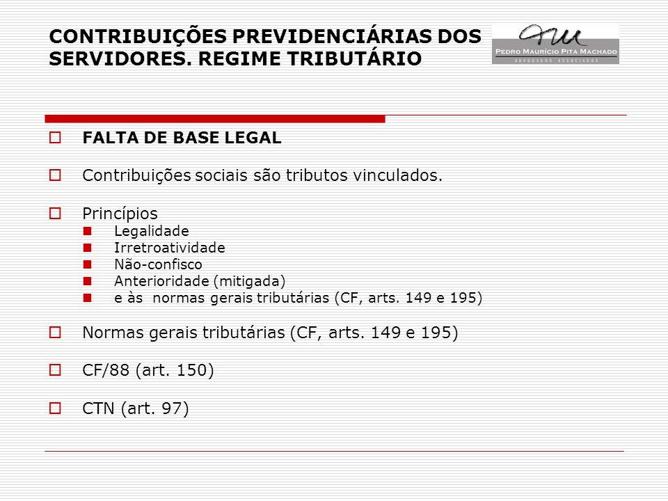 CONTRIBUIÇÕES PREVIDENCIÁRIAS DOS SERVIDORES.