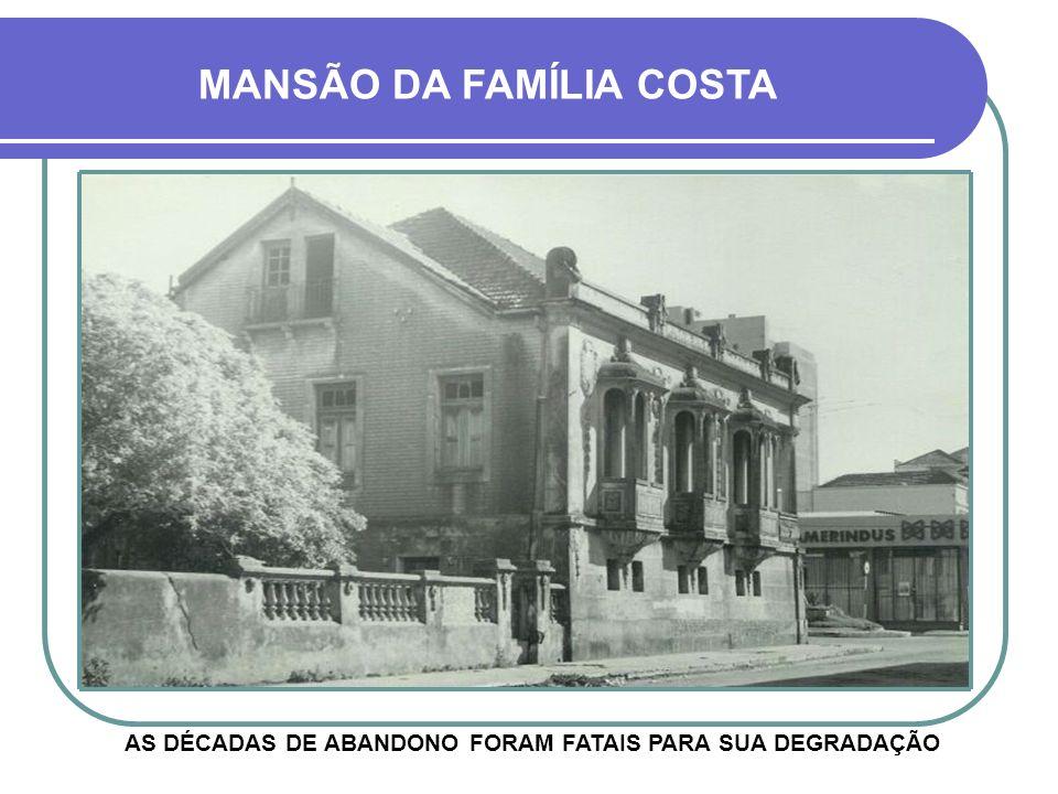 EDIFÍCIO FACCIN VISÃO APARTIR DA RUA JOÃO MANOEL MANSÃO DA FAMÍLIA COSTA