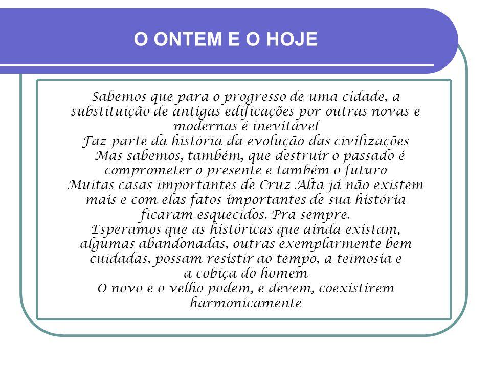 REVELAÇÃO ESPÍRITA Conta-se, de fonte testemunhal idônea e segura, que em torno de 1964, período em que a casa já estava sem destino definido e encami