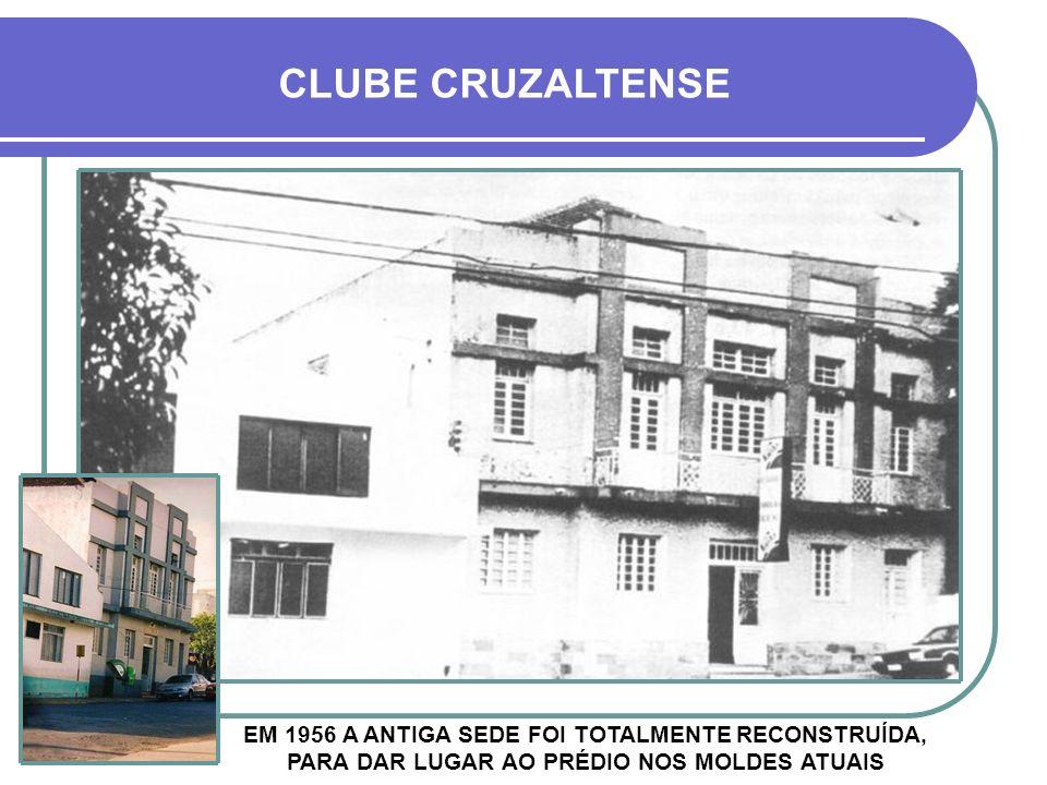 EM 1956 A ANTIGA SEDE FOI TOTALMENTE RECONSTRUÍDA, PARA DAR LUGAR AO PRÉDIO NOS MOLDES ATUAIS CLUBE CRUZALTENSE