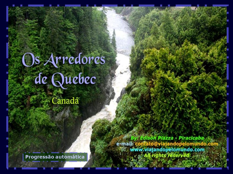 Agora vamos para Charlemagne, entre Quebec e Montreal, a pequena cidade natal da notável cantora Celine Dion, cuja música faz fundo a este documentário...