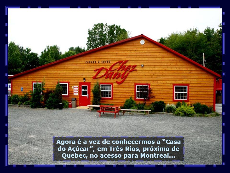 Na entrada da linda cidadezinha, um memorial à filha mais ilustre desse recanto canadense. Celine se consagrou com a interpretação da música-tema do f