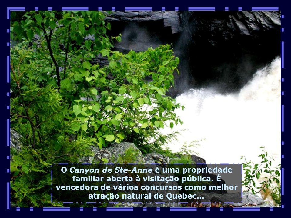 O Canyon de Ste-Anne é uma propriedade familiar aberta à visitação pública.