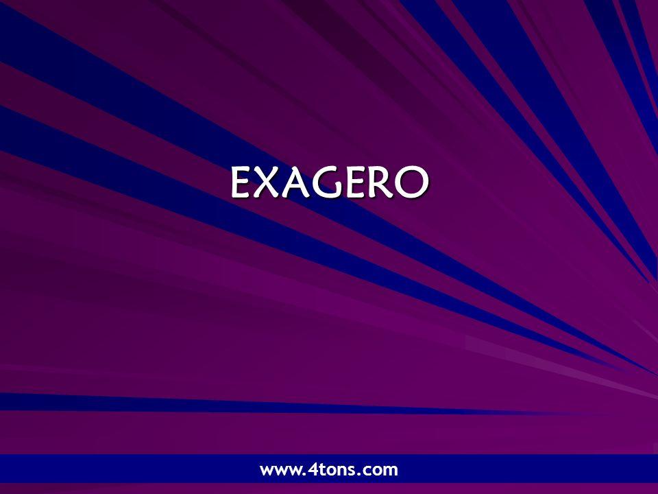 Pr. Marcelo Augusto de Carvalho 1 EXAGERO www.4tons.com