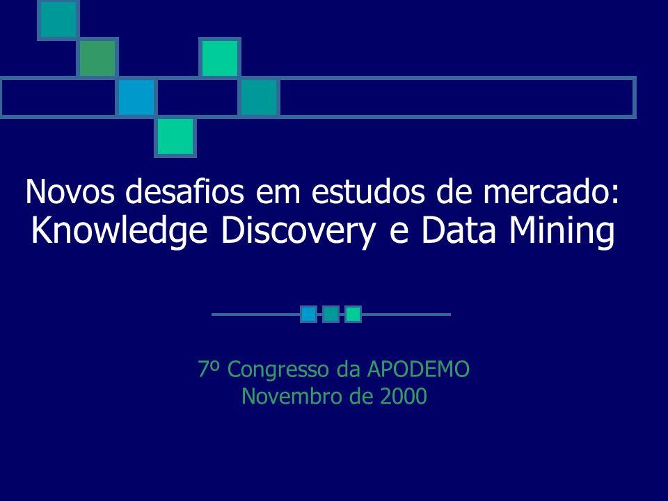 Novos desafios em estudos de mercado: Knowledge Discovery e Data Mining 7º Congresso da APODEMO Novembro de 2000