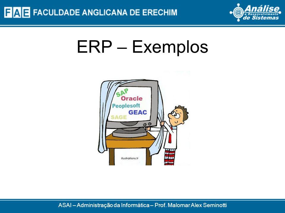 ERP – Exemplos ASAI – Administração da Informática – Prof. Malomar Alex Seminotti
