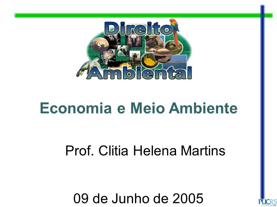 Economia e Meio Ambiente Prof. Clitia Helena Martins 09 de Junho de 2005
