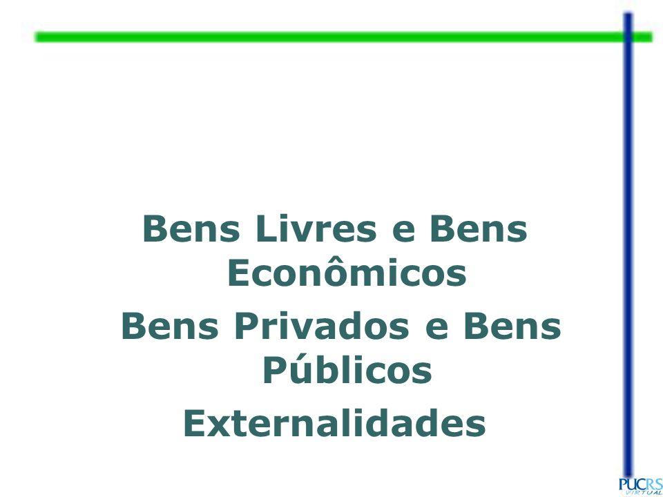Bens Livres e Bens Econômicos Bens Privados e Bens Públicos Externalidades