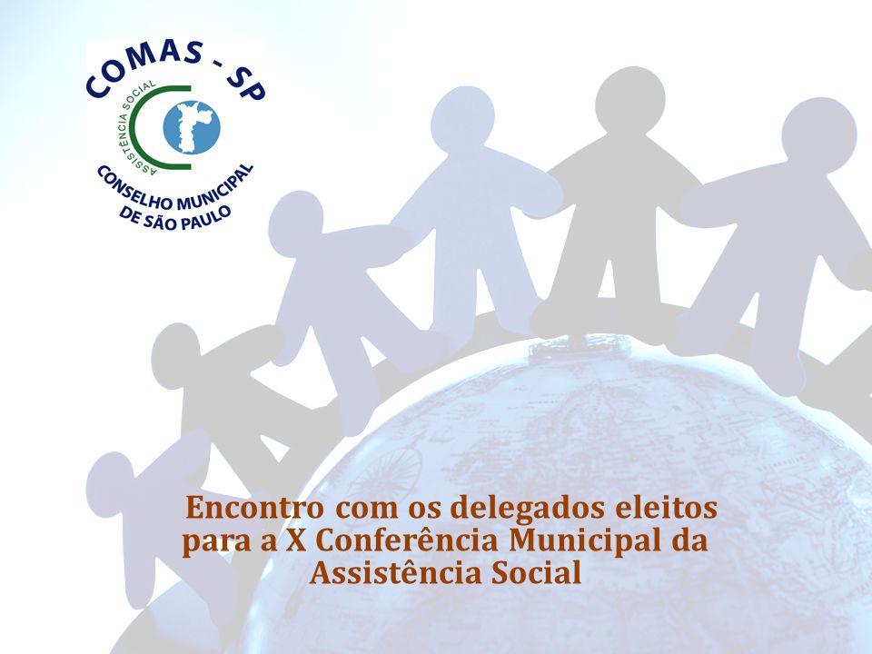 COMISSÕES: Constituídas respeitando-se a paridade entre governo e sociedade civil: - Comissão de Finanças e Orçamento - CFO; - Comissão de Relações Interinstitucionais _ CRI; - Comissão de Legislação, Políticas Públicas, Defesa e Garantia de Direitos - CPP; - Comissão de Monitoramento e Controle das Deliberações das Conferencias - CMCDC; - Comissão de Controle Social do Programa Bolsa Família - CCSBF; - Comissão Central de Organização da X Conferência Municipal da Assistência Social.