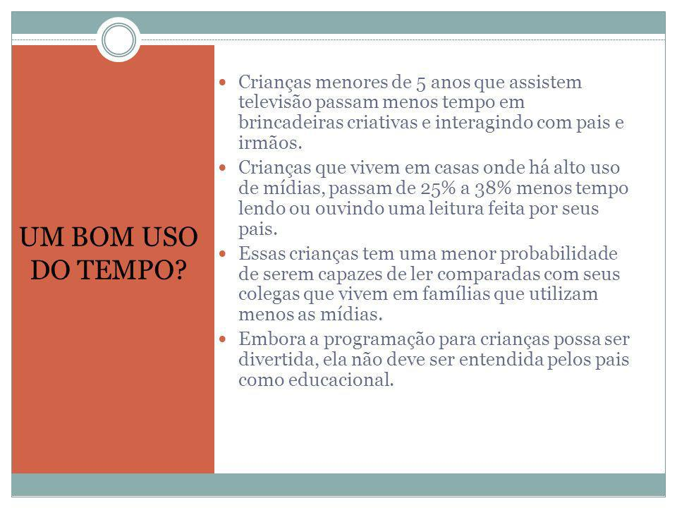 Mídia e Violência True, media violence is not likely to turn na otherwise fine child into a violent criminal.