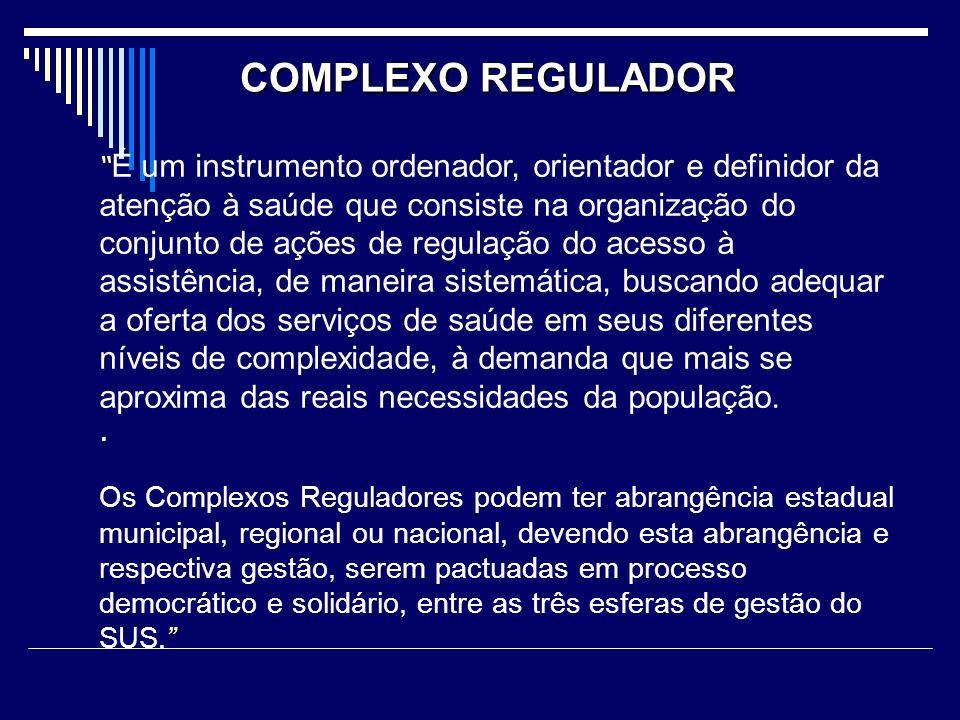 Objetivos do Complexo Regulador I.