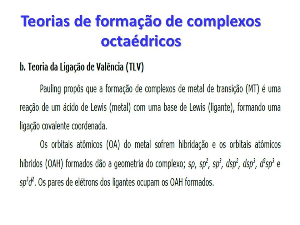 Fatores que afetam a magnitude de 10 Dq O EFEITO DA NATUREZA DO METAL: Para os metais pertencentes a qualquer uma das séries de transição não são observadas diferenças consideráveis de 10 Dq entre eles.