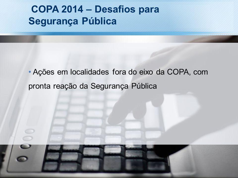 COPA 2014 – Desafios para Segurança Pública Ações em localidades fora do eixo da COPA, com pronta reação da Segurança Pública