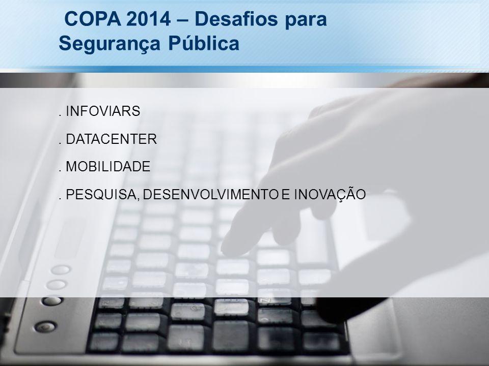 COPA 2014 – Desafios para Segurança Pública. INFOVIARS. DATACENTER. MOBILIDADE. PESQUISA, DESENVOLVIMENTO E INOVAÇÃO