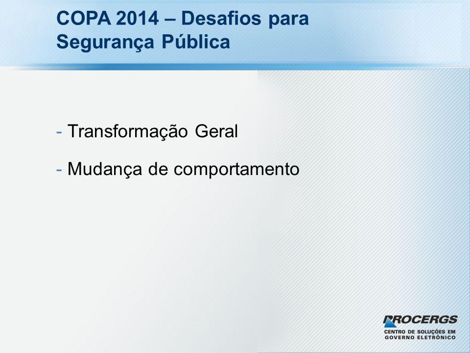 COPA 2014 – Desafios para Segurança Pública - Transformação Geral - Mudança de comportamento
