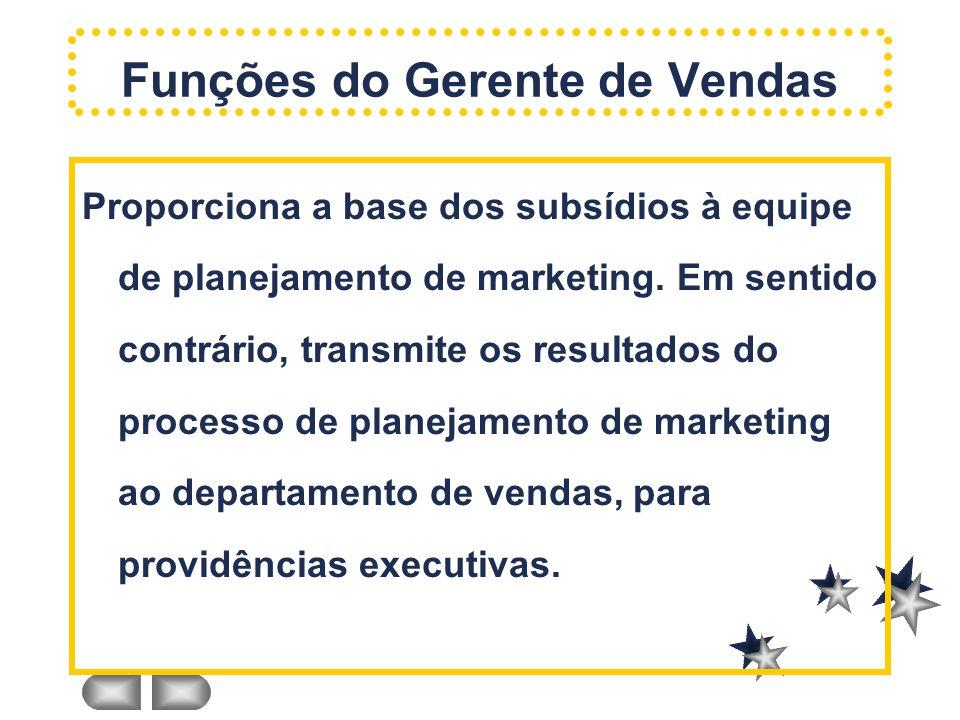 Proporciona a base dos subsídios à equipe de planejamento de marketing. Em sentido contrário, transmite os resultados do processo de planejamento de m
