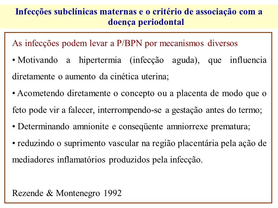1930 19941996 Maior prevalência e severidade da gengivite em gestantes CRONOLOGIA DOS ESTUDOS: DOENÇA PERIODONTAL GESTAÇÃO/PUERPÉRIO 1 0 experimento em animais com patógeno periodontal 1960 Estudos sobre a etiopatogenia da gengivite em gestantes 1942 Gengivite gravídica 1 0 estudo epidemiológico 1972 Demonstração da influência de inoculação de endotoxinas bacterianas e E.