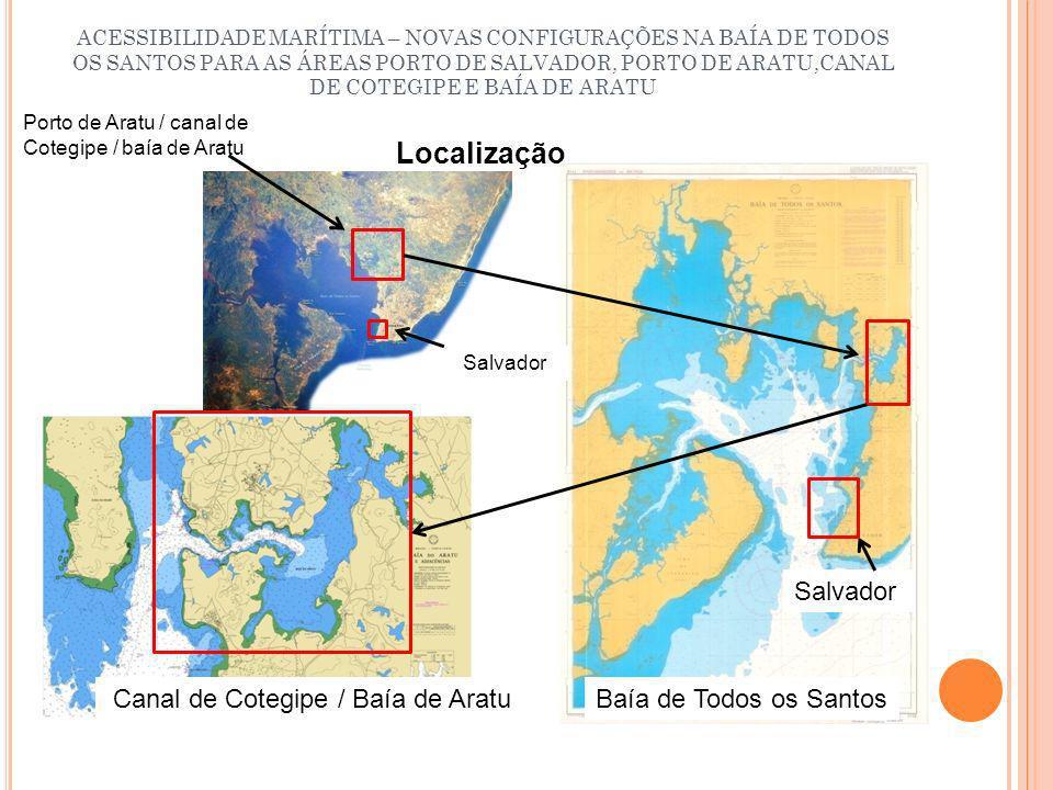 ACESSIBILIDADE MARÍTIMA – NOVAS CONFIGURAÇÕES NA BAÍA DE TODOS OS SANTOS PARA AS ÁREAS PORTO DE SALVADOR, PORTO DE ARATU,CANAL DE COTEGIPE E BAÍA DE ARATU Principais destinos no interior da baía de Todos os Santos