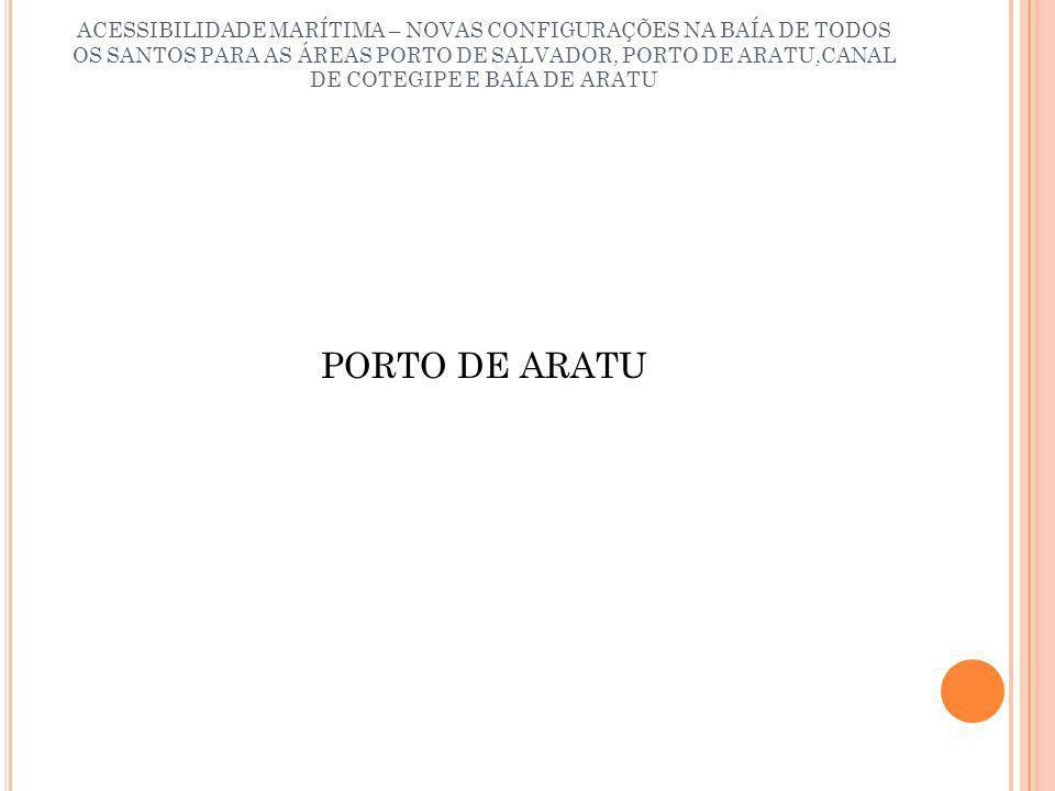 ACESSIBILIDADE MARÍTIMA – NOVAS CONFIGURAÇÕES NA BAÍA DE TODOS OS SANTOS PARA AS ÁREAS PORTO DE SALVADOR, PORTO DE ARATU,CANAL DE COTEGIPE E BAÍA DE ARATU DUPLICAÇÃO DO TERMINAL DE GRANÉIS LÍQUIDOS