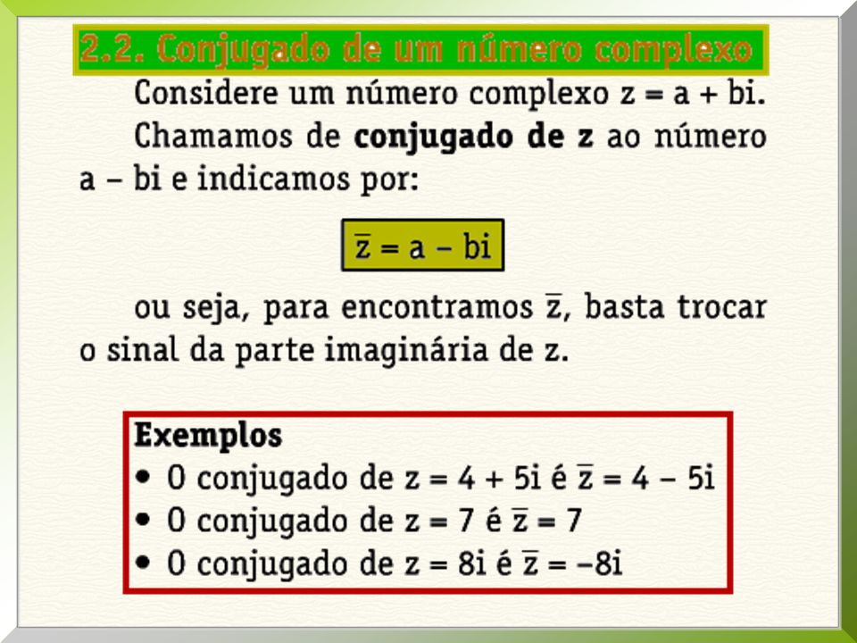 02. Sendo z = 2 + mi e w = 3 + 4i, obter m para z + 2w seja um número real.