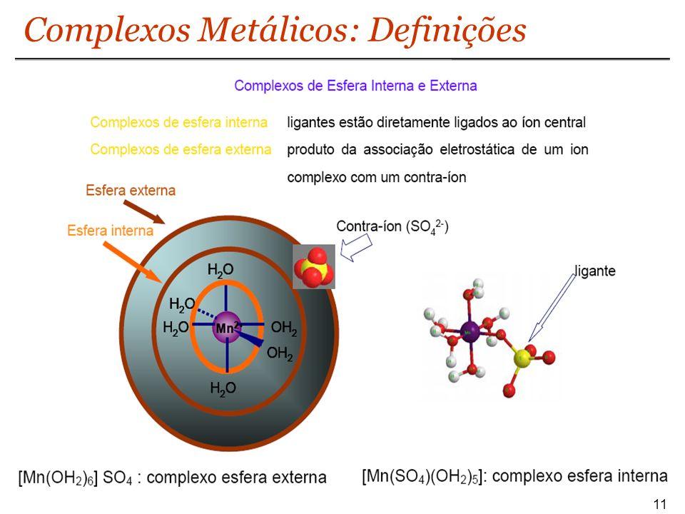 Complexos Metálicos: Definições 11