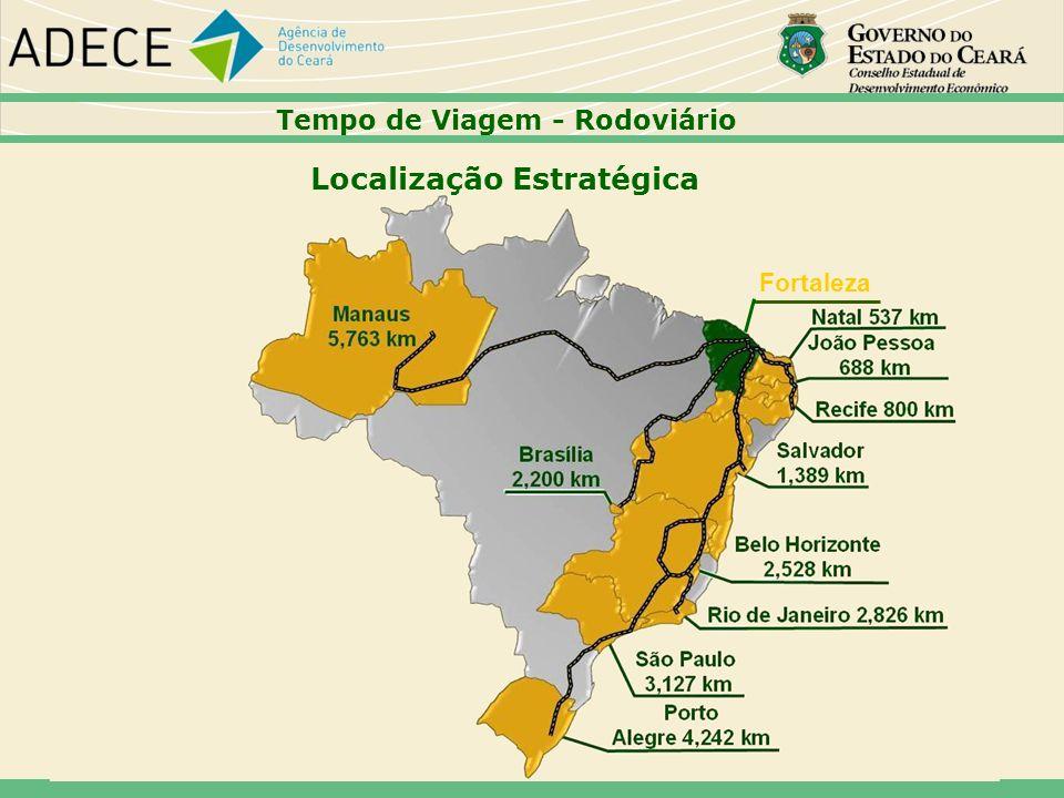 Tempo de Viagem - Rodoviário Localização Estratégica Fortaleza