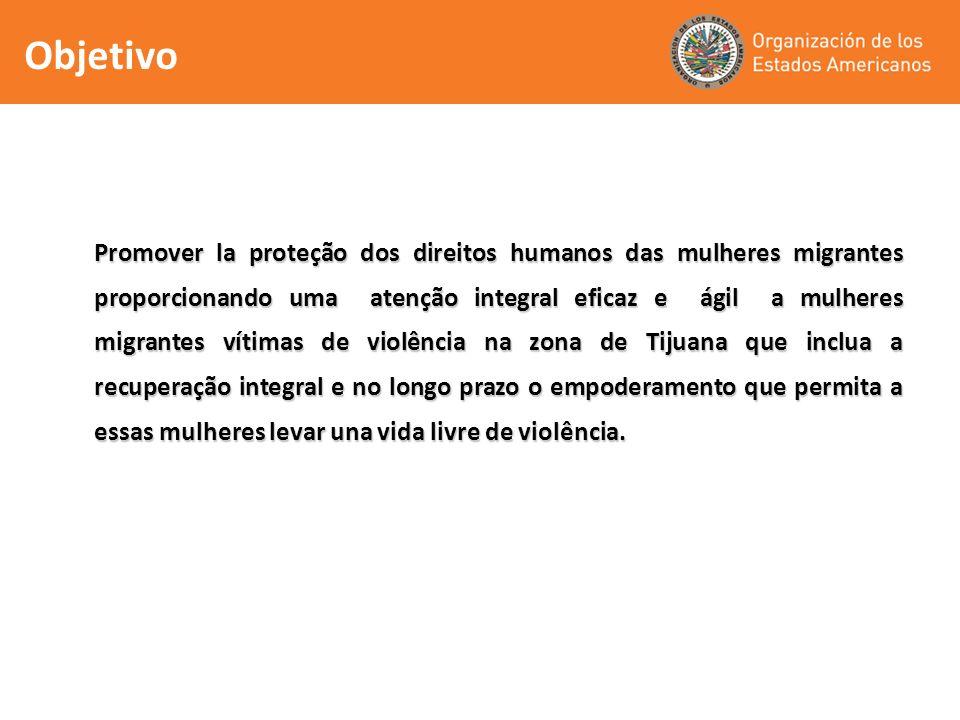 Promover la proteção dos direitos humanos das mulheres migrantes proporcionando uma atenção integral eficaz e ágil a mulheres migrantes vítimas de vio