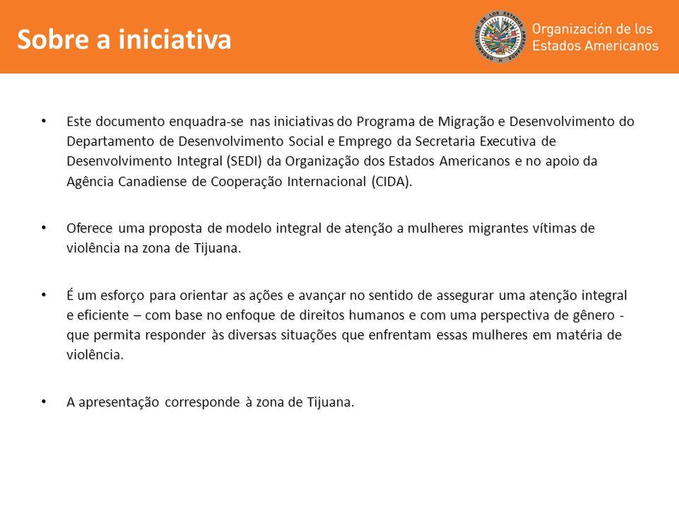 Sobre a iniciativa Este documento enquadra-se nas iniciativas do Programa de Migração e Desenvolvimento do Departamento de Desenvolvimento Social e Em