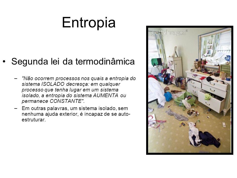 Entropia e Equilíbrio Equilíbrio mecânico, químico, hidrostático, térmico e termodinâmico.
