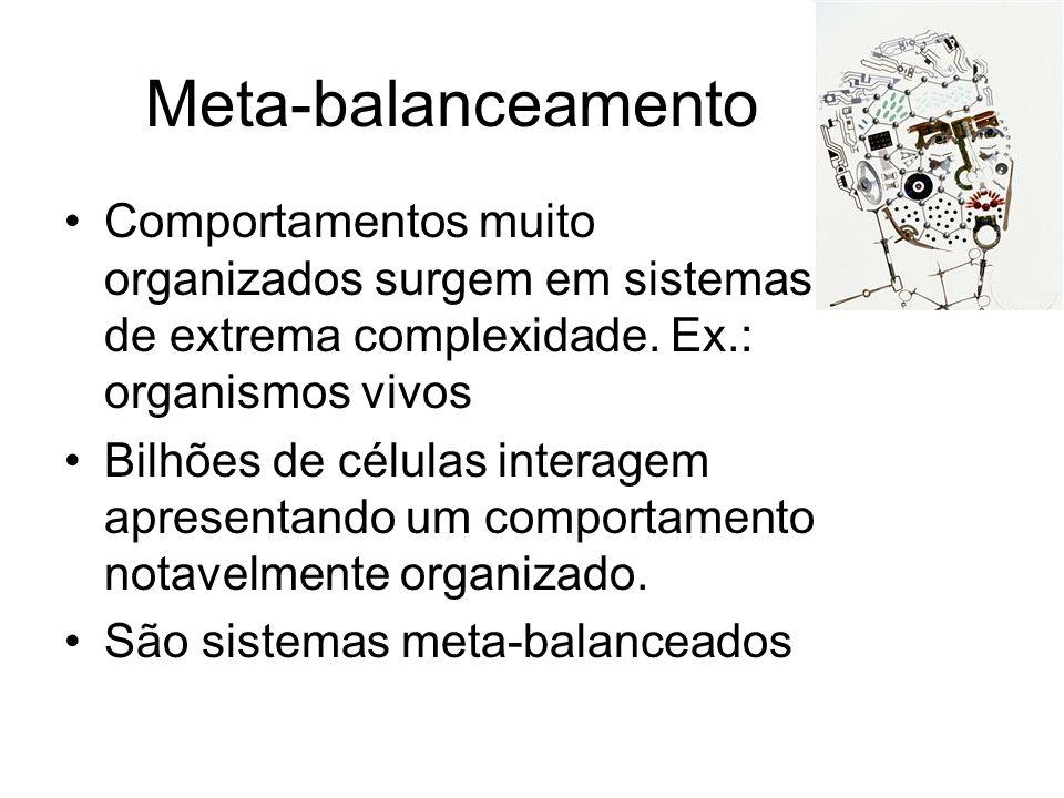 Meta-balanceamento Comportamentos muito organizados surgem em sistemas de extrema complexidade.