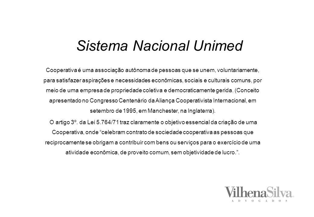 Sistema Nacional Unimed Cooperativa é uma associação autônoma de pessoas que se unem, voluntariamente, para satisfazer aspirações e necessidades econômicas, sociais e culturais comuns, por meio de uma empresa de propriedade coletiva e democraticamente gerida.