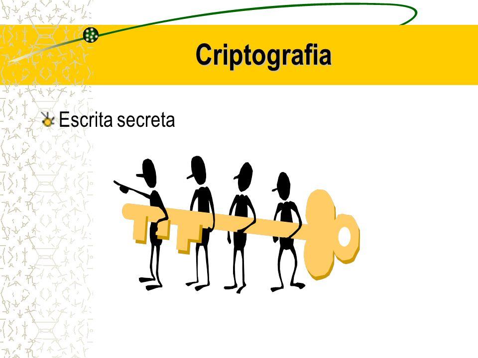 Criptografia Conjunto de conceitos e técnicas que visa codificar uma informação de forma que somente o emissor e o receptor possam entendê-la, evitando que um intruso consiga interpretá- la.