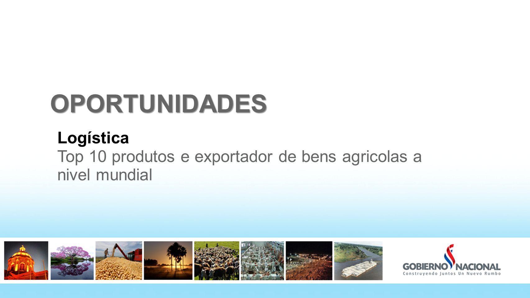 OPORTUNIDADES Logística Top 10 produtos e exportador de bens agricolas a nivel mundial