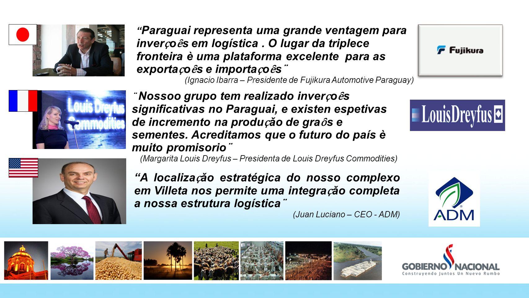 Paraguai representa uma grande ventagem para inver ҫ o ȇ s em logística. O lugar da triplece fronteira è uma plataforma excelente para as exporta ҫ o