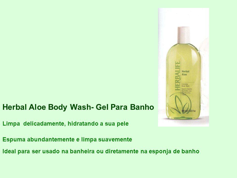 Herbal Aloe Body Wash- Gel Para Banho Limpa delicadamente, hidratando a sua pele Espuma abundantemente e limpa suavemente Ideal para ser usado na banh