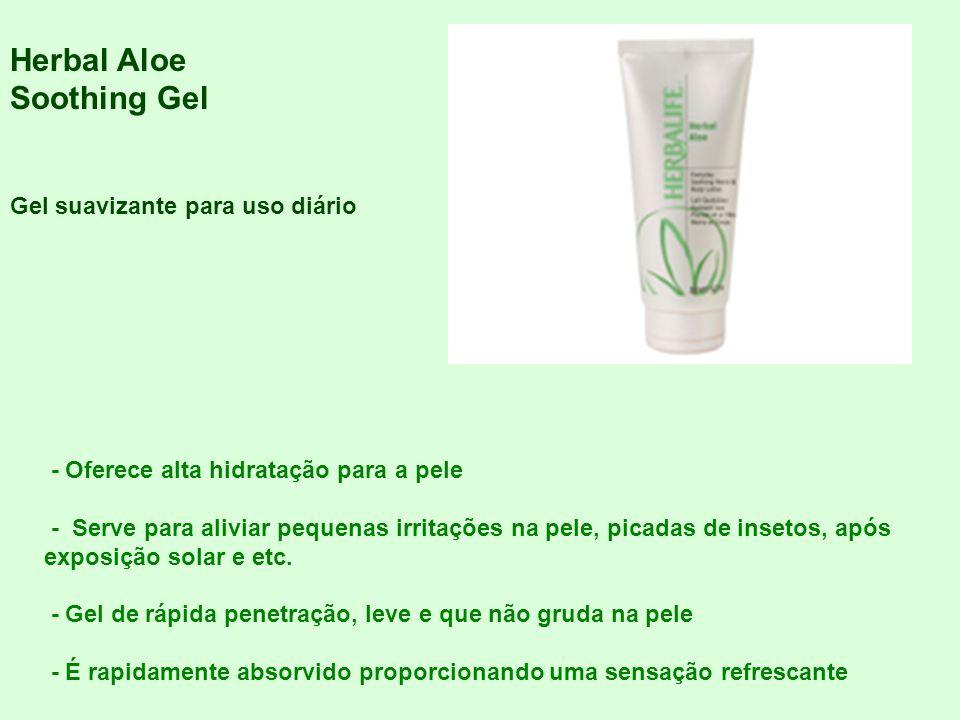 Herbal Aloe Soothing Gel Gel suavizante para uso diário - Oferece alta hidratação para a pele - Serve para aliviar pequenas irritações na pele, picada