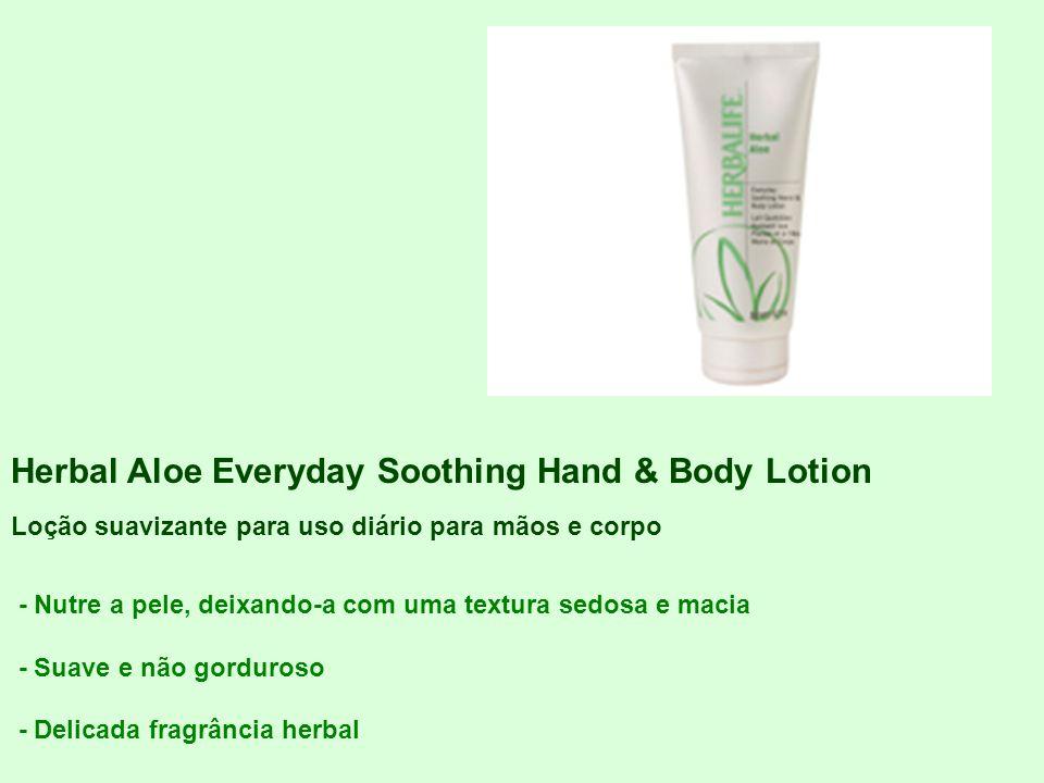 Herbal Aloe Everyday Soothing Hand & Body Lotion Loção suavizante para uso diário para mãos e corpo - Nutre a pele, deixando-a com uma textura sedosa