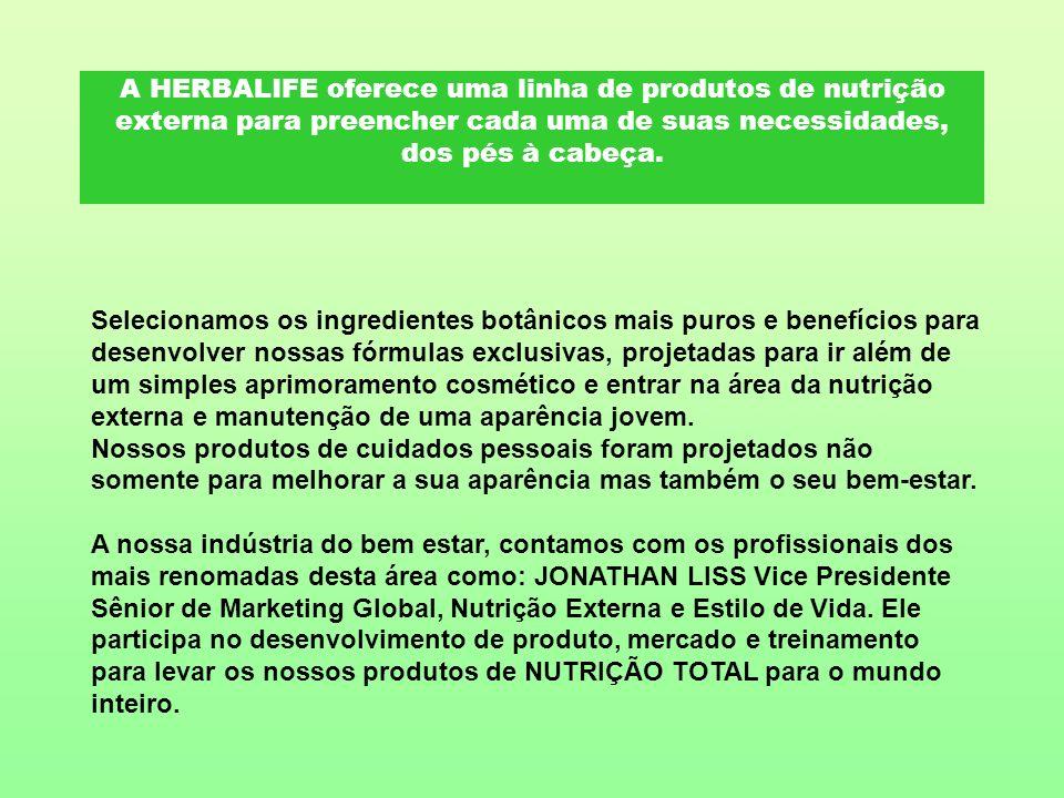 A HERBALIFE oferece uma linha de produtos de nutrição externa para preencher cada uma de suas necessidades, dos pés à cabeça. Selecionamos os ingredie