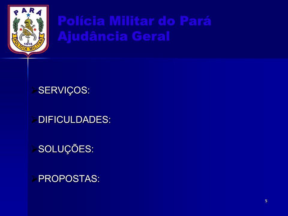 Polícia Militar do Pará Ajudância Geral SECRETARIA DA AJG Secretário RecepçãoProduçãoExpedienteMaterial Subsec.