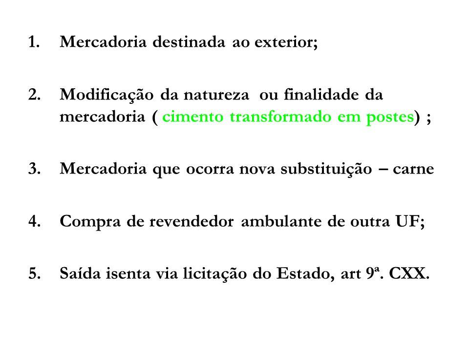 COMO EMITIR A NOTA FISCAL NA VENDA DE MERCADORIAS COM SUBSTITUIÇÃO TRIBUTÁRIA EM VIGOR A PARTIR DE 17.07.2009 Art.