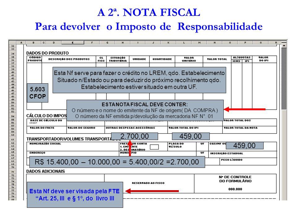 PRAZO DE PAGAMENTO DO ICMS DE RESPONSABILIDADE DEVIDO SOBRE OS ESTOQUES