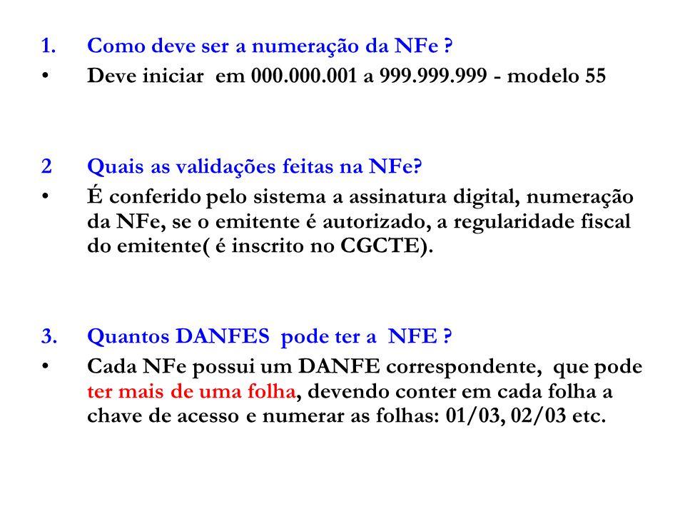 4.Se alguma NFe for rejeitada, todo o lote será rejeitado.